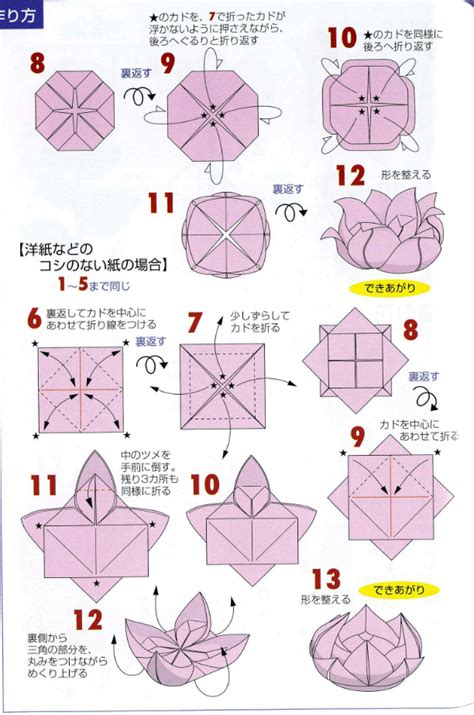 Origami Lotus Tutorial - origami lotus flower tutorial paper kawaii