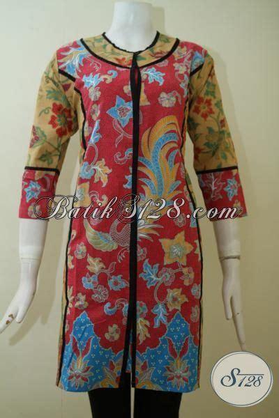 Pl Pakaian Wanita dress batik print lasem dengan desain mewah dan formal