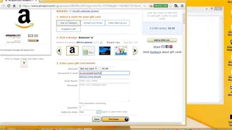 Amazon Gift Card For Less - how to purchase amazon gift card youtube