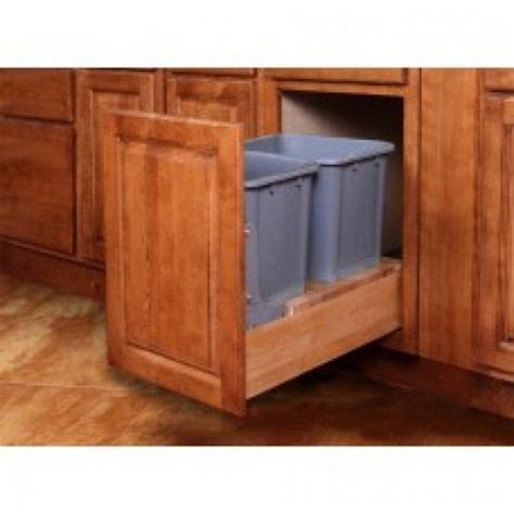 Waste Basket Cabinet by Wbs18 Cnp Pull Out Waste Basket Kitchen Cabinets