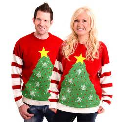 Light up christmas tree knitted jumper from cheesy christmas jumpers