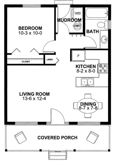 one bedroom cottage floor plans house plan 99971 cottage vacation plan with 598 sq ft 1 bedrooms 1 bathrooms at family