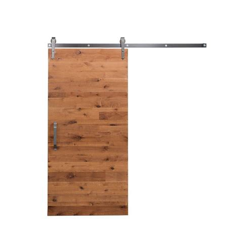 Sliding Barn Door Home Depot Rustica Hardware 42 In X 84 In Reclaimed Clear Wood Barn Door With Arrow Sliding Door Hardware