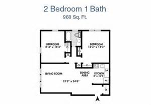 2 bedroom 1 bath house plans seramonte two bedroom floor plan 2 bed 1 bath 960 sq