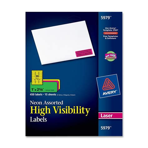 avery products templates avery high visibility labels ld products