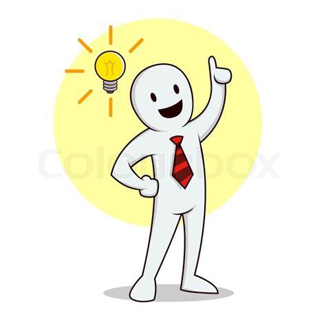 idea images vector illustration of a businessman having a bright idea