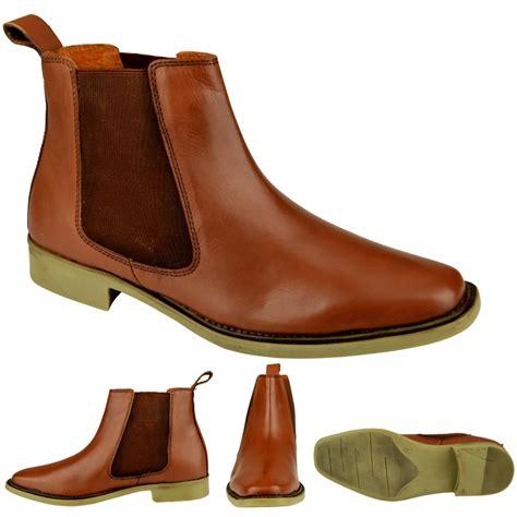 mens genuine leather slip on chelsea dealer ankle winter