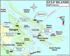 map of golf courses in the gulf islands columbia