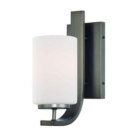 Bronze Wall Sconce Lighting Pendenza 1 Light Bronze Wall Sconce Tn0005715 The Home Depot