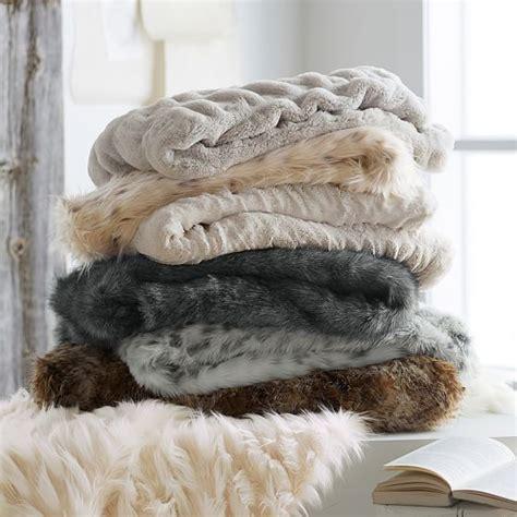 Faux Fur Mink Blanket by Faux Fur Throw Pbteen