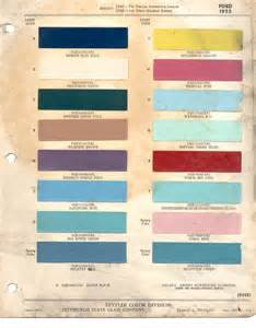 paint chips 1955 fairlane ford truck lincoln mercury