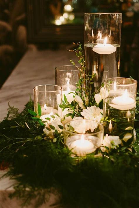 wedding reception centerpieces floating candles floral wreath wedding centerpieces with floating candles 5 ideas