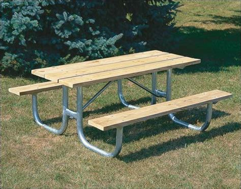 steel picnic table outdoor metal picnic tables galvanized steel