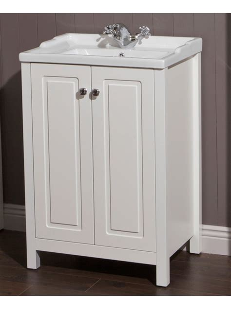White Bathroom Vanity Units by Floor Standing Vanity Units Ashbury Traditional 60 Chalk