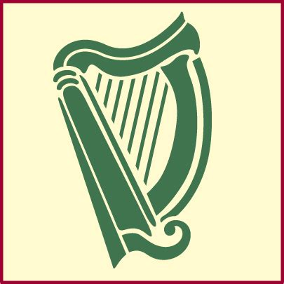 celt08 celtic irish harp 400 theartfulstencil