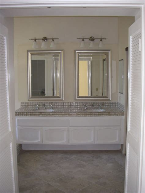Pictures Of Bathroom Vanities And Mirrors | simple but chic bathroom vanity mirrors doherty house