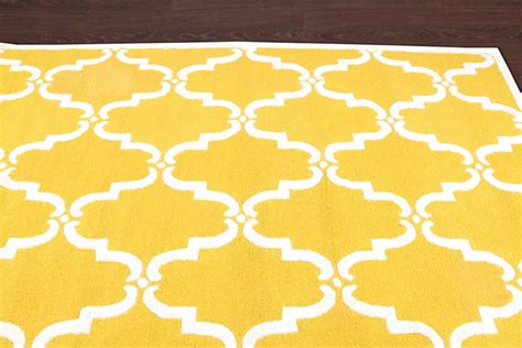 Yellow And Grey Rug Uk by Rugsville Moroccan Tuscan Trellis Yellow Wool Rug 17117 Rugsville Co Uk