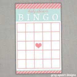 Girl baby shower bingo printables