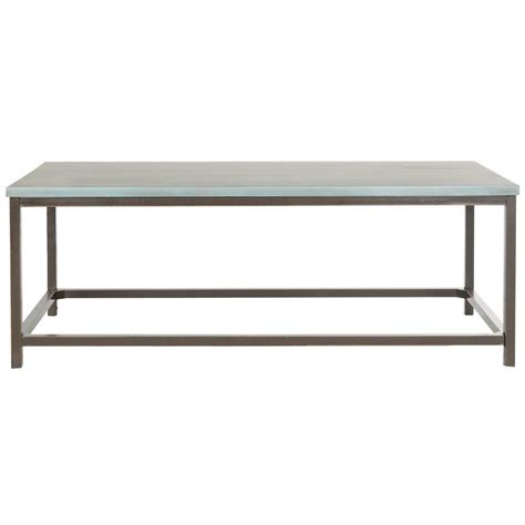 blue coffee table safavieh alec steel blue coffee table amh6545b the home