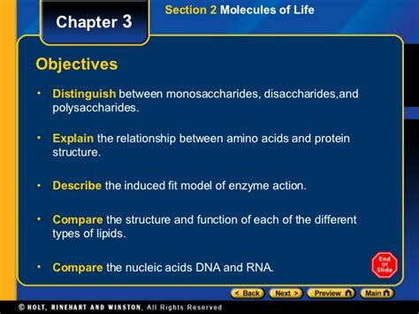 chapter 2 section 2 chapter 3 section 2 molecules of life