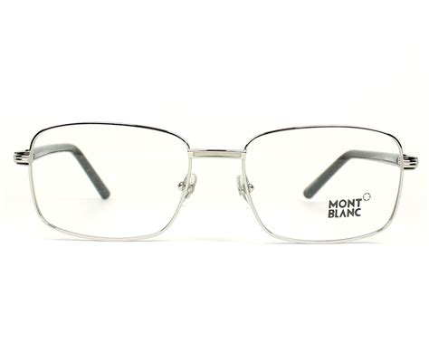 Montblanc Mb07 Silver Black mont blanc eyeglasses mb 530 016 silver visionet