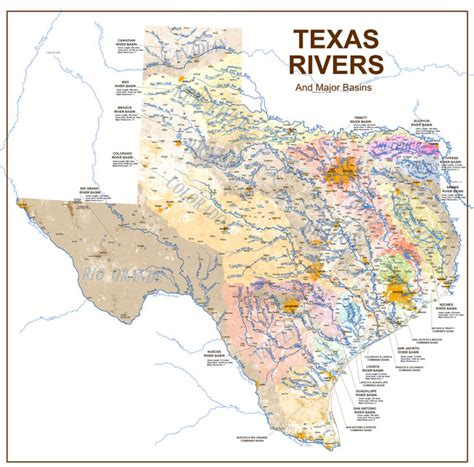 major rivers of texas map texas rivers creeks and lakes map texas rivers and lakes