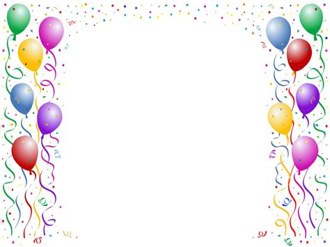 birthday card border templates birthday border png search frames