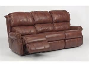 Fabric Reclining Sofa Flexsteel Living Room Leather Or Fabric Power Reclining Sofa 1227 62p Bennington Furniture