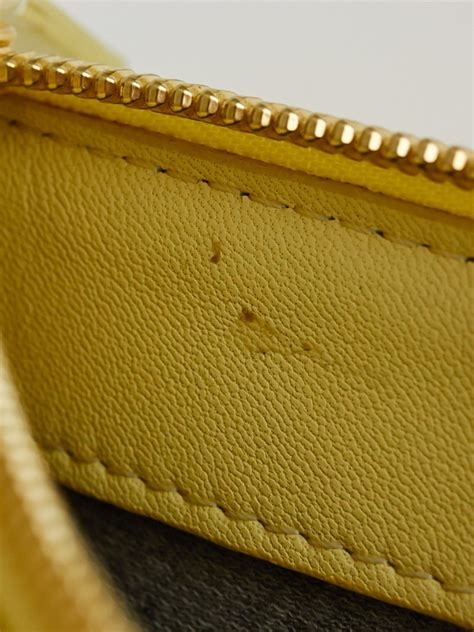 light yellow leather light yellow lambskin leather trio crossbody bag
