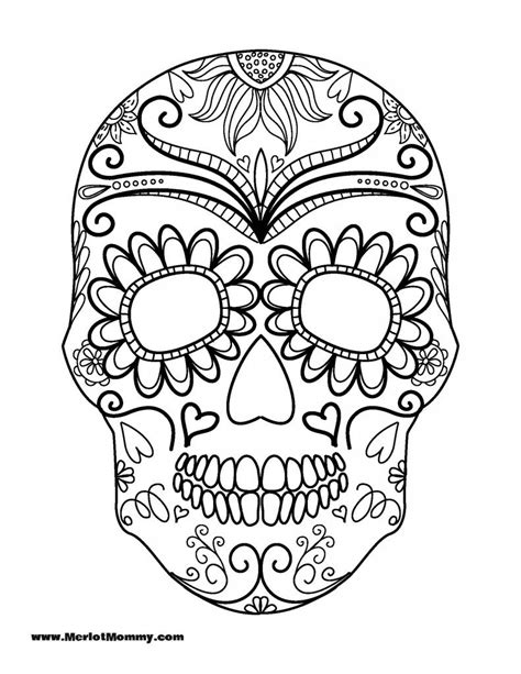 sugar skull coloring page az pages sketch coloring page