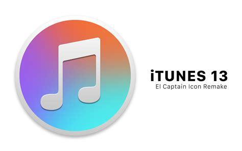 apple itunes itunes 13 apple music el captain icon remake by