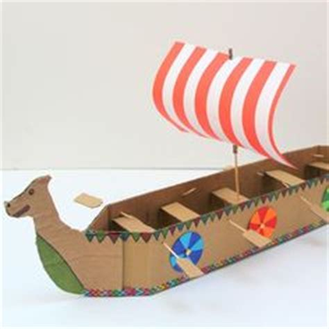 How To Make A 3d Ship Out Of Paper - template for building a viking longship home school