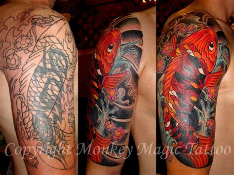 koi fish tattoo cover up koi tattoo cover buscar con google koi fish tattoo