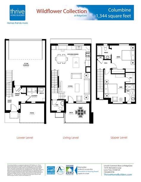 columbine home plan by thrive home builders in rows at