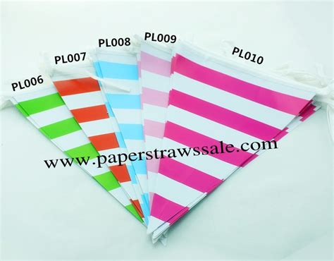 Sale Bunting Flag Hbd Colorful cheap banners 50 strings striped bunting flags mixed 5 colors