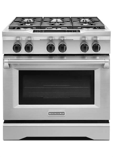 Kitchenaid Dual Fuel Range by Kitchenaid Commercial Style 36 In 5 1 Cu Ft Slide In
