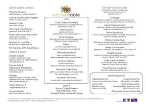 kitchen table menu winda 7 furniture