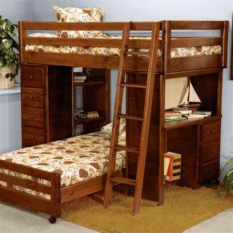 Bunk Beds With Two Desks Bunk Bed With Desk For Your Homesfeed