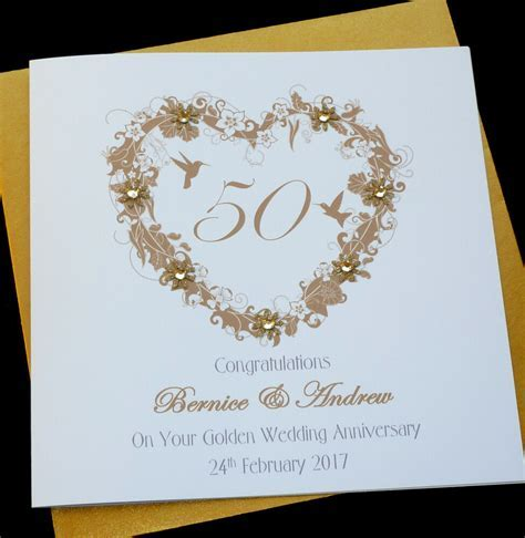 Personalised Handmade Golden /50th Wedding Anniversary