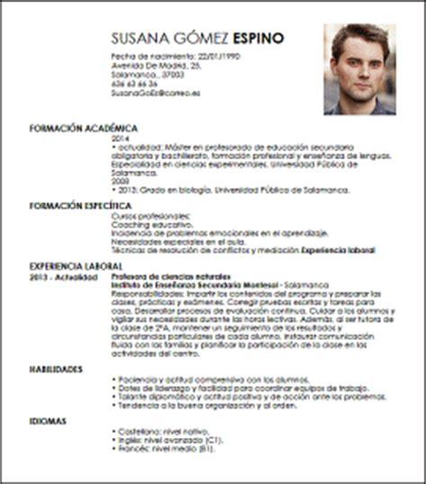 Modelo De Curriculum Vitae Para Trabajo De Docente Modelo Cv Profesor Principal Livecareer