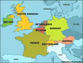 map netherlands germany switzerland western europe