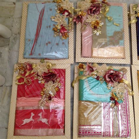Handmade Saree Packing Trays - saree packing for wedding or bridal lehenga packing