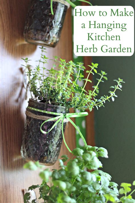 how to build an herb garden how to make a hanging kitchen herb garden living a