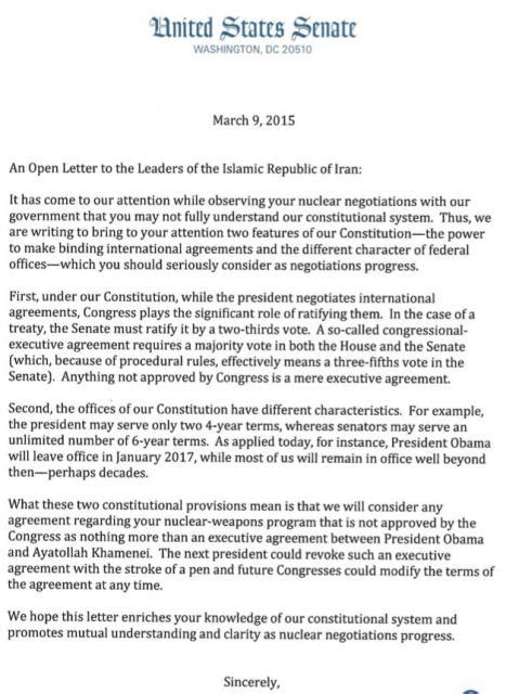 Whitehouse Petition Iran Letter White House Angry Senators Letter To Iran Nox Friends