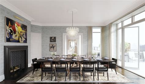 terrace dining room 62 million penthouse collection revealed at 20 east end