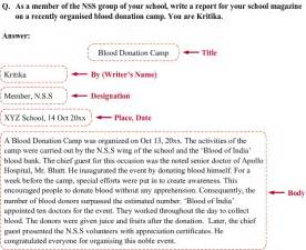 Letter Of Complaint Cbse Class 11 Format With An Exle Of Report Writing Meritnation