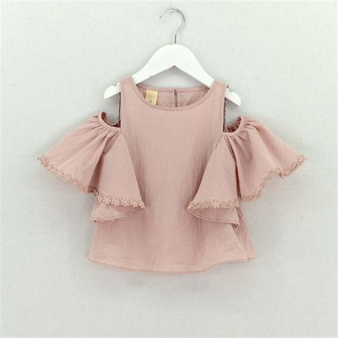 Blouse Vaby 2017 summer blouse baby clothes cotton tops lace school white blouses for