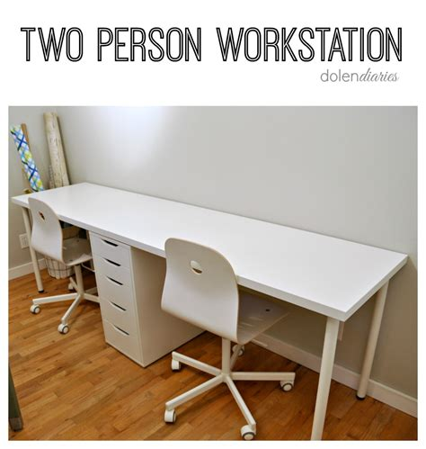 two person desk diy two person workstation my craftily ever after