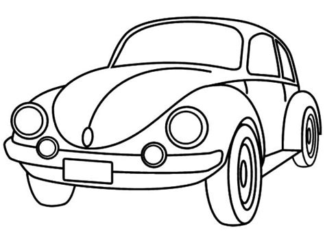 punch buggy car drawing beetle car coloring pages best place to color