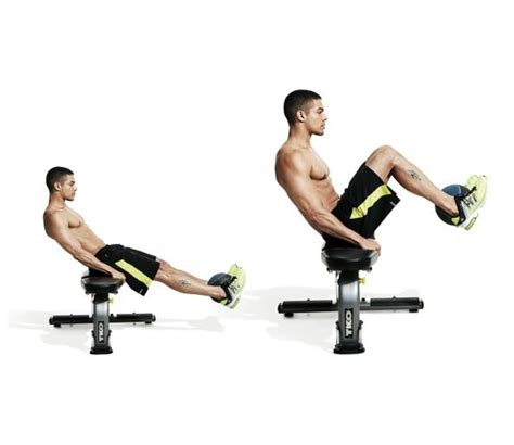 knee on bench dumbbell the anatomy of leg raise